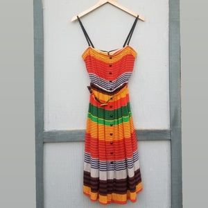 Plenty Tracey Reese | Colorful Silk Button Dress